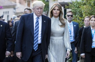 Mandatory Credit: Photo by ANGELO CARCONI/EPA/REX/Shutterstock (8846599ac) Donald J. Trump and Melania Trump G7 Summit in Taormina, Italy - 26 May 2017 US President Donald J. Trump (L) and First Lady Melania Trump (2-L) arrive at the Greek Theater to attend a concert, on the sideline of the G7 Summit in Taormina, Sicily island, Italy, 26 May 2017. Heads of States and of Governments of the G7, the group of most industrialized economies, plus the European Union, meet in Taormina, Italy, from 26 to 27 May 2017 for a summit titled 'Building the Foundations of Renewed Trust'.